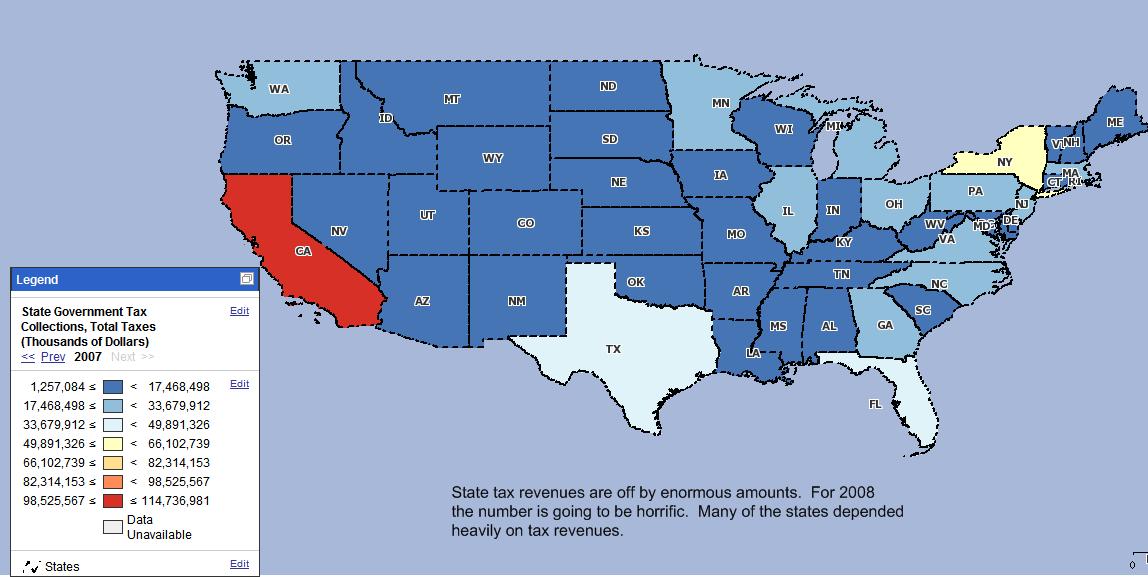 tax revenues states
