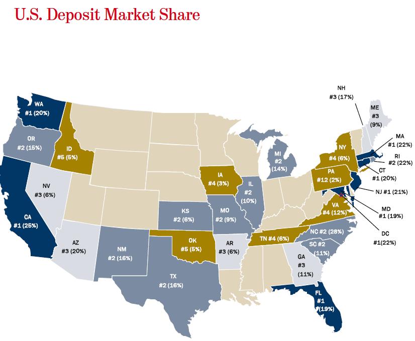 us deposit market share bofa