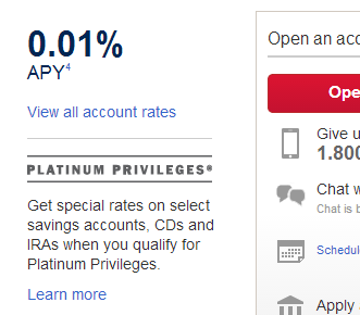 bofa savings account rate