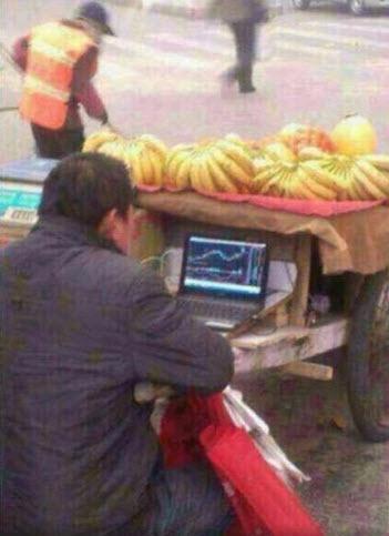 China banana salesman trading stocks shanghai