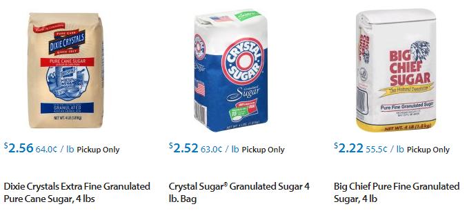 sugar 4 lbs